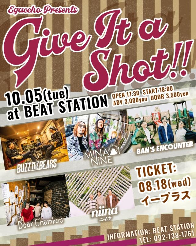 10月05日(火)福岡BEAT STATION 前売り取り置き予約スタート